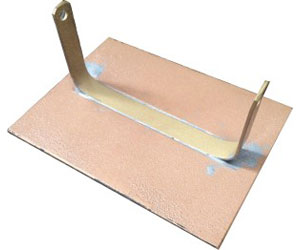 Brackets for mounting an Ashes plaque