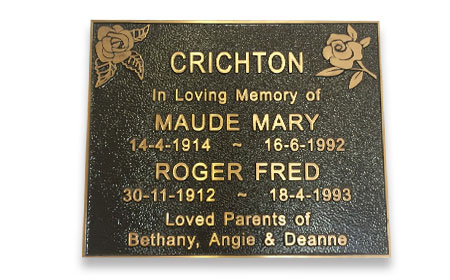 Sample - Ashes Plaque