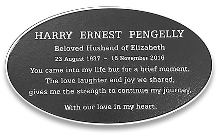 Sample - Round / Oval Plaque