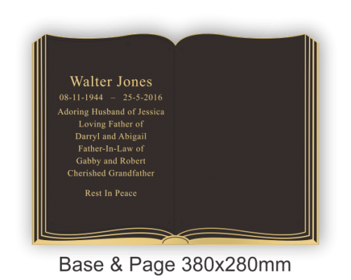 Book Base and Page 380x280mm