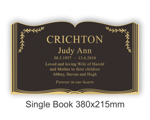 Single Book 380x215mm