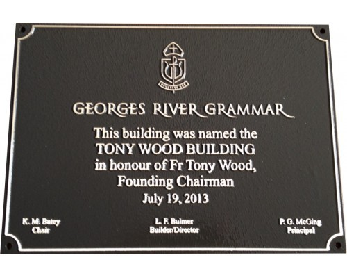 Commemorative plaque sample