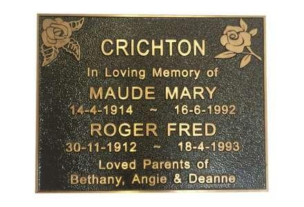 Ashes plaque