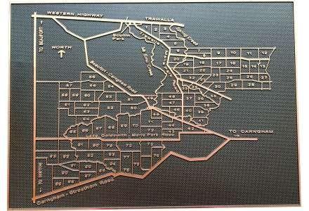 Map plaque