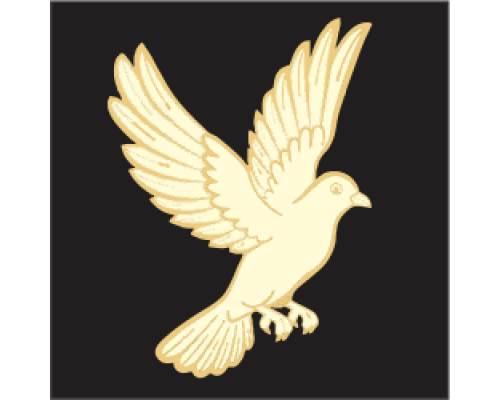 Coloured Motif - Dove