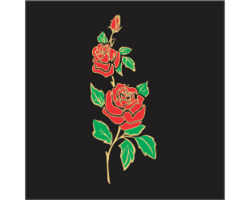 Coloured Motif - Rose