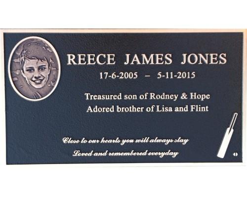 Standard memorial plaque