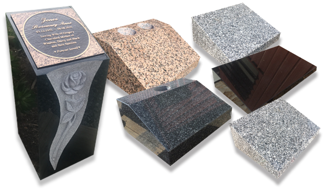 Examples of our granite desks and slopers.