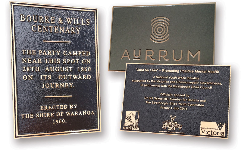 Examples of Commemorative Plaques