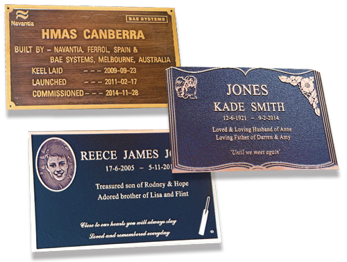 Examples of our plaques.